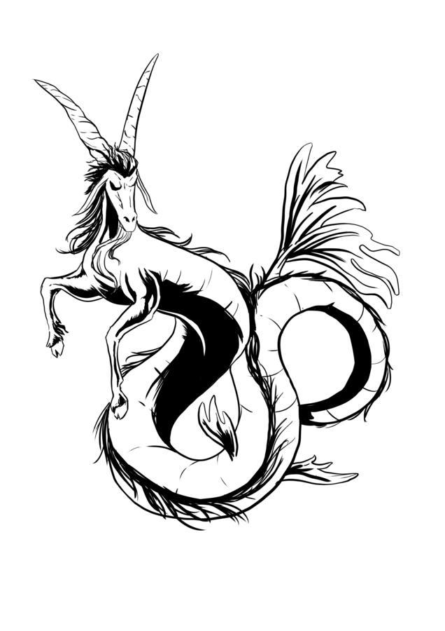 татуировка со знаком зодиака козерог