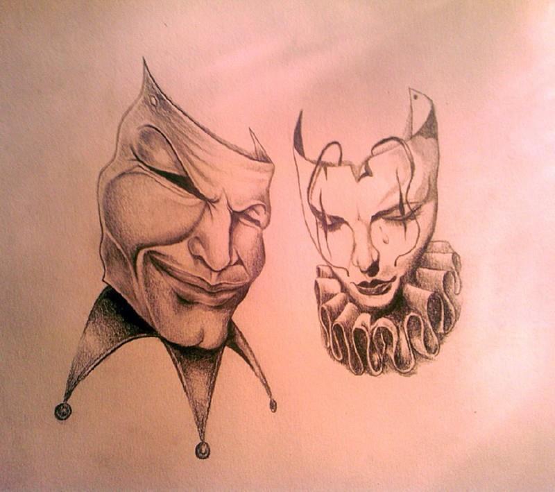 театральные маски эскизы: