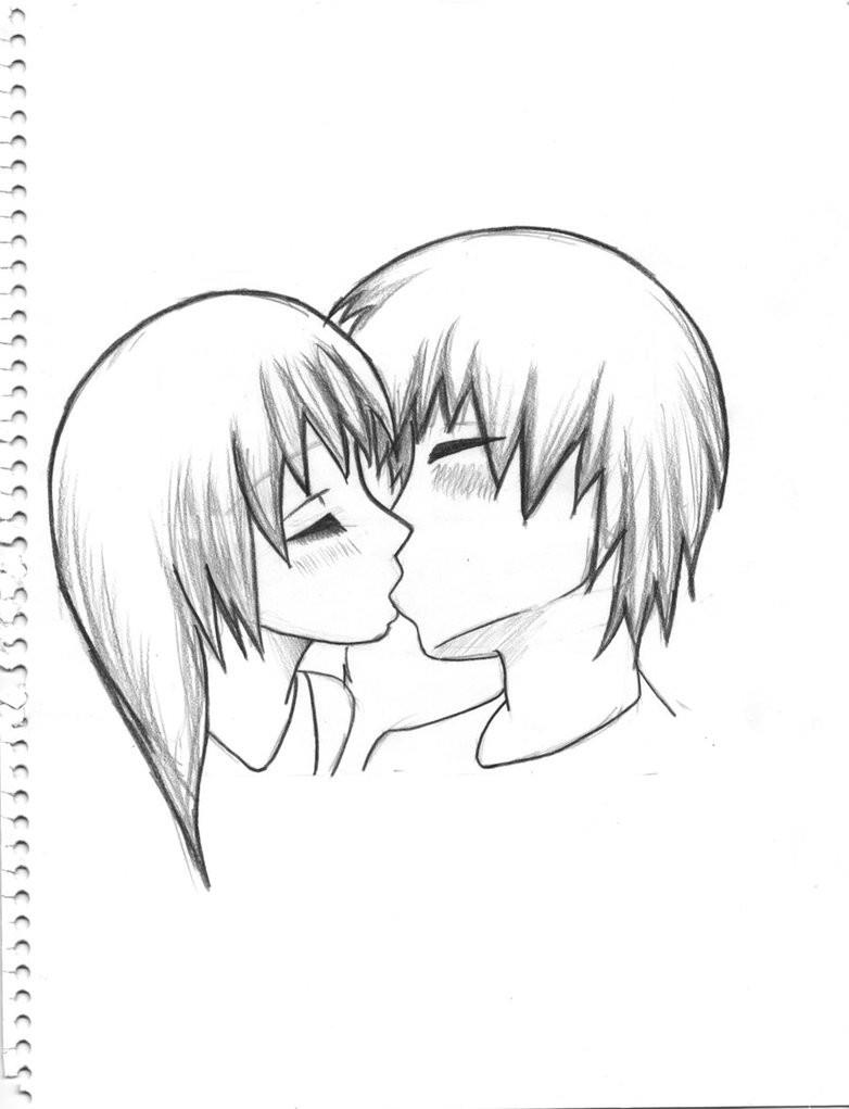 Easy Drawing Of People Kissing