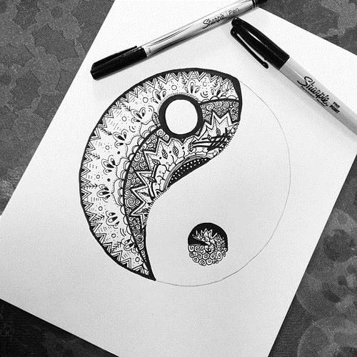 Татуировка Инь-Янь - 50 фото. Значение, символика и эскизы 75